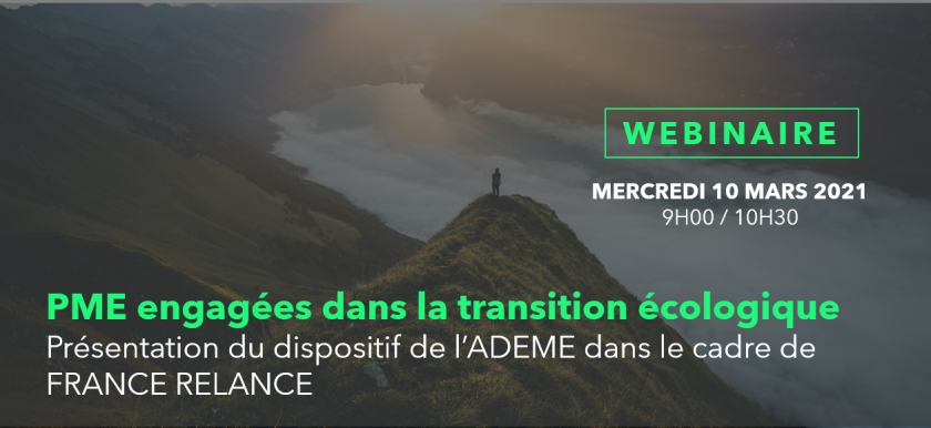 [WEBINAIRE] Dispositif ADEME - FRANCE RELANCE